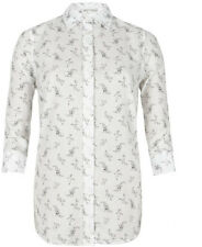 "**NEW ""ALLSAINTS"" WHITE FLORAL ""DITSY"" SHIRT SIZE ""10"" - with TAGS ATTACHED!!"