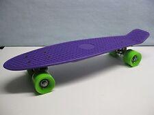 skate skateboard cruiser planche à roulettes neuves violet et vert pomme
