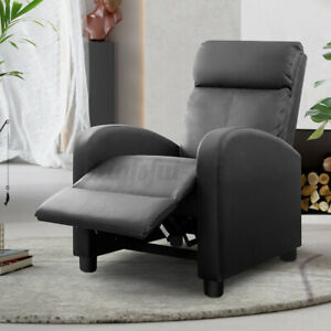 Adjustable Recliner Sofa Chair Armchair Seater PU Leather Cinema Home Bedroom