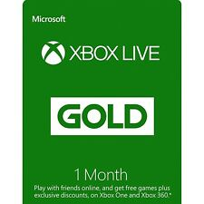 Xbox Live Gold 1 Month Keys (Xbox One/360) - Region Free - See Description