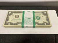 Lot of 5 NEW Uncirculated Two Dollar Bills Crisp $2 Sequential Note 2013.