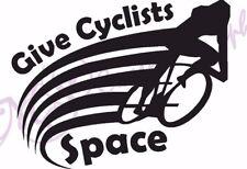Etiqueta engomada del vinilo coche a los ciclistas espacio, 11 Colores, ciclo consciente de advertencia de seguridad