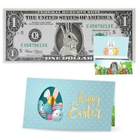 The Official Easter Bunny Dollar Bill. Real 1.0 USD. Bankable & Spendable.
