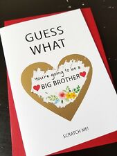 Pregnancy announcement card for Sun Big Brother bun in the oven Parents Husband