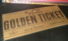2 Charlie And The Chocolate Factory Laminated Wonka Golden Tickets