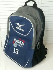 Mizuno Large Black & Navy Volleyball Sports Backpack Organizer Top & Bottom Open