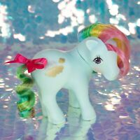 Vintage My Little Pony SUNLIGHT Aqua Sun Clouds Rainbow Hair G1 MLP BC054