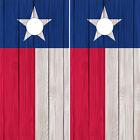 Cornhole Wraps Texas Flags Wood Grain Image - Set of 2 Vinyl Skins Easy to Apply