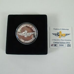 100th Anniversary 2016 Indy 500 & Marmon Wasp Silver Collector Coin Scratches