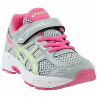 ASICS Pre Contend 4 Preschool  Casual Running Neutral Shoes Grey Girls - Size 3
