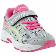 Asics Pre Contend 4 Preschool Casual Running Neutral Shoes Grey Girls - Size 3