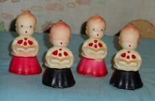 vintage Christmas GURLEY CANDLES LOT choir boy caroler lot x4 red black