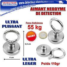 PROMO !!! AIMANT Néodyme de détection - Force d'adhérence 55 Kg