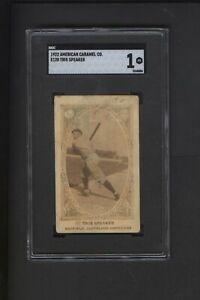 1922 E120 American Caramel Tris Speaker Cleveland HOF SGC Graded