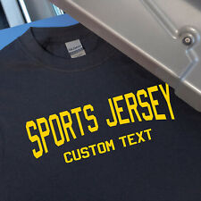 Custom Sports Jersey Text Style 2 Iron On Heat Transfer for T-Shirts