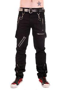 Tiger of London Punk Rock  Black Bondage Pants Trousers with Straps.
