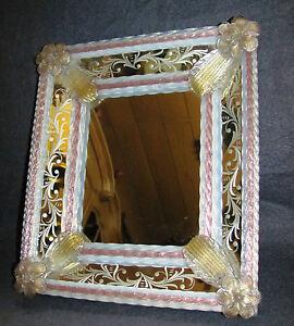 Murano Glas Spiegel 50/60er Jahre
