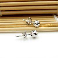 PT950 Pure Platinum 950 Earrings / Little Ball Soaking Bean Stud Earrings / 1.6g