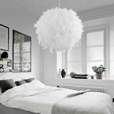Modern Feather Round Ceiling Light Shade Pendant Lampshade Nordic Style Decor