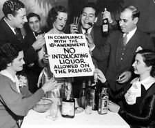 Liquor Prohibition 18th amendment Speakeasy Temperance Depression Vintage photo