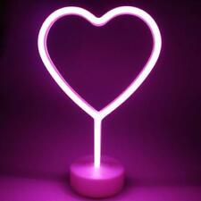 Heart Neon Light Led Lights with Detachable Holder Base New