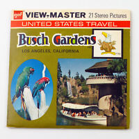 Vintage View-Master Reels Set Packet A233 BUSCH GARDENS (1971) Los Angeles CA