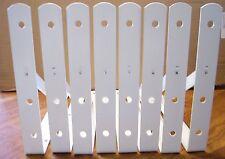 """New 20 White Heavy Duty Steel 12"""" x 8"""" Shelf Brackets 500 Lbs Metal Countertop"""