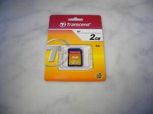 NEW SEALED TRANSCEND 2GB SD CARD UK SELLER FREE P&P #BOX30