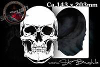 Airbrush Schablone für Schädel - Totenköpfe - Skull Stencil