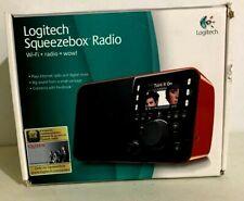 Logitech Squeezebox Radio Wi-Fi Internet Radio Digital Music Facebook Red Box