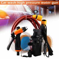12V Electric Portable High Pressure Washer Power Pump Self-priming Car Wash Kit