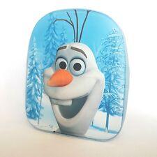 DISNEY sac à dos bleu OLAF 3 D relief école  L 25 x H 32 x P 8 cm maternelle