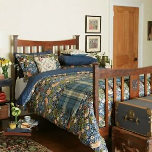 William Morris Designer Bedding STRAWBERRY THIEF Blue 100% Cotton Duvet Cover