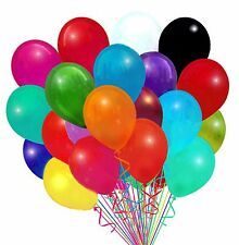 "72 Latex Balloons 12"" With Clips and Curling Ribbon - Assorted colors - you pick"
