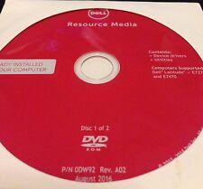 DELL Resource Media Drivers Diagnotics Utilites 2 Discs rev A02