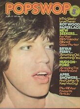 Mick Jagger on Popswop Magazine No. 82 Cover 1974    New Seekers   Bryan Ferry