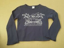 Girl's Long Sleeve Round Neck Honolulu Logo T.Shirt Age 5-6 Years