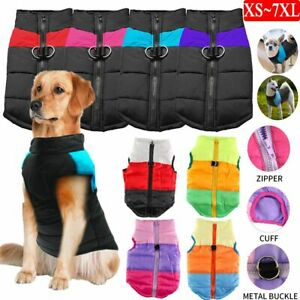 Puppy Dog Vest Jacket Warm Pet Waterproof Clothes Small/Large Winter Padded Coat
