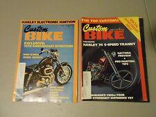 LOT OF 2 MARCH/APRIL 1978 CUSTOM BIKE MAGAZINES,10 TOP CUSTOMS,HARLEYS,CHOPPERS