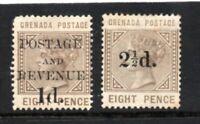 Grenada - SG# 46 & 47 MH (rem)        /      Lot 0121059