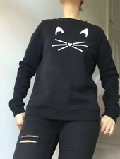 karl lagerfeld sweater black cotton cat great condition and quality sizeL~10uk