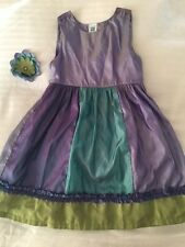 April Cornell Boutique Shimmery Purple/Blue Sleeveless Dress * Sz 2 *EEUC