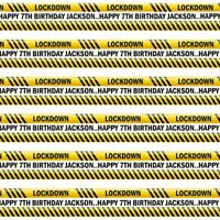 PERSONALISED LOCKDOWN HAPPY BIRTHDAY WRAPPING GIFT PRESENT WRAP PAPER LARGE A3