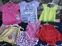 LOT Of 8 Pc Baby toddler Girls Size 3-6 months  Mixed Outfits Spring Summer EUC!