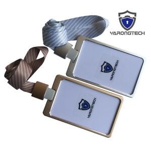 RFID Card Holder Office employee Aluminium Alloy ID Badge with Lanyard