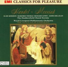 HANDEL – MESSIAH: HUDDERSFIELD CHORAL SOCIETY, RLPO / SIR MALCOLM SARGENT – 2 CD