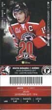 QMJHL Ticket - Quebec Remparts 20th Anniversary KURT ETCHEGARY #19