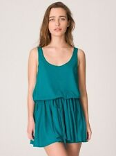 American Apparel drawstring tri evergreen tank mini dress Size M/L  New