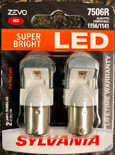 Sylvania 7506R Zevo Red Super Bright LED Lamp Light Bulb 1156/1141