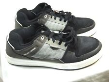 MENS DVS BRAND ATHLETIC SHOES SIZE 9 1/2 STYLE IS PORTAL BLACK AND GRAY    Y2